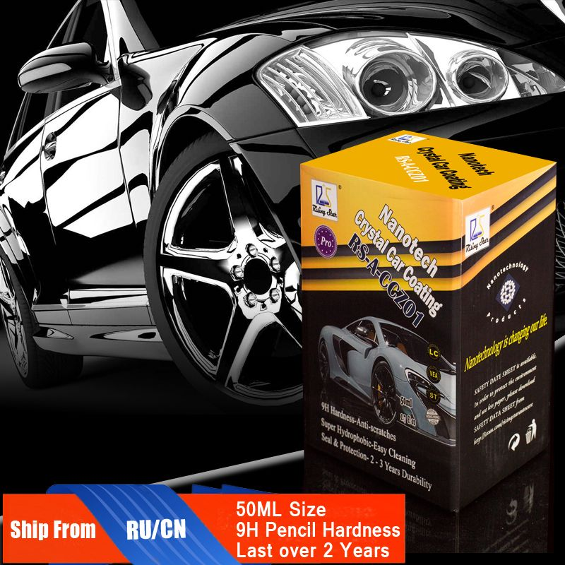 Rising Star RS-A-CCZ01 Liquid Glass Nano Ceramic Car Care Coating Hydrophobic Crystal Car Coating 50ml Kit for professionals