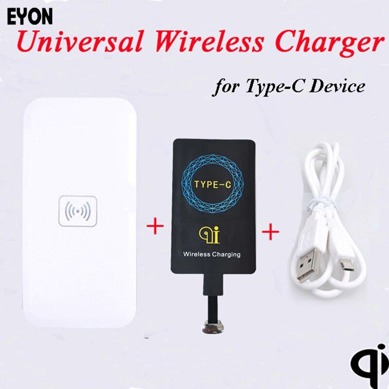 EYON TI Chipset  Type-C Qi  Wireless Charger Charging Receiver +Pad for HUAWEI P9 P10 Xiaomi Mi6 5S 4S OnePlus 2 3 HTC 10 LG G6