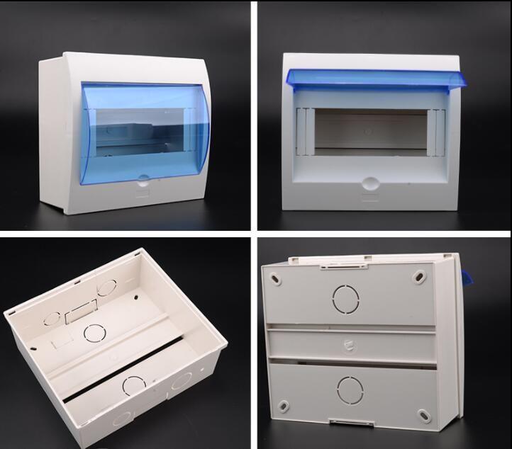 5-8 bit hause verwenden offene installation kunststoff verteilung box luft schalter leere boxen 150*170mm