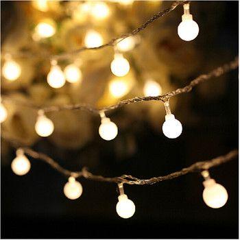 10 M led chaîne lumières avec 50led boule AC220V vacances décoration lampe Festival De Noël lumières éclairage extérieur