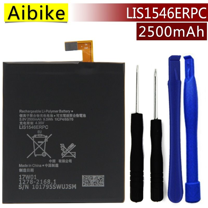 LIS1546ERPC Aibike Nueva batería original del teléfono móvil Para Sony Xperia D2502 C3 S55T S55U T3 M50W D5103 D2533 Batería 2500 mAh Real