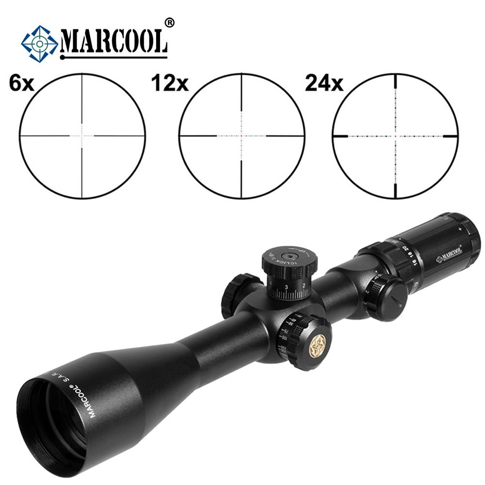 Pneumatic Weapon MARCOOL EVV 6-24X50 SFIRGL FFP CLICK 1/8 MOA Side Focus Tactical Hunting Riflescope Optical Collimator Sight