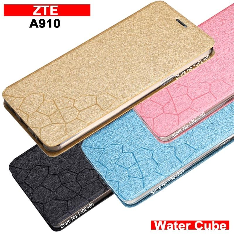 ZTE A910 case cover leather Water cube pu flip case for ZTE a910 blade a910 a 910 case NEW 4 style a910 ZTE a 910 case cover