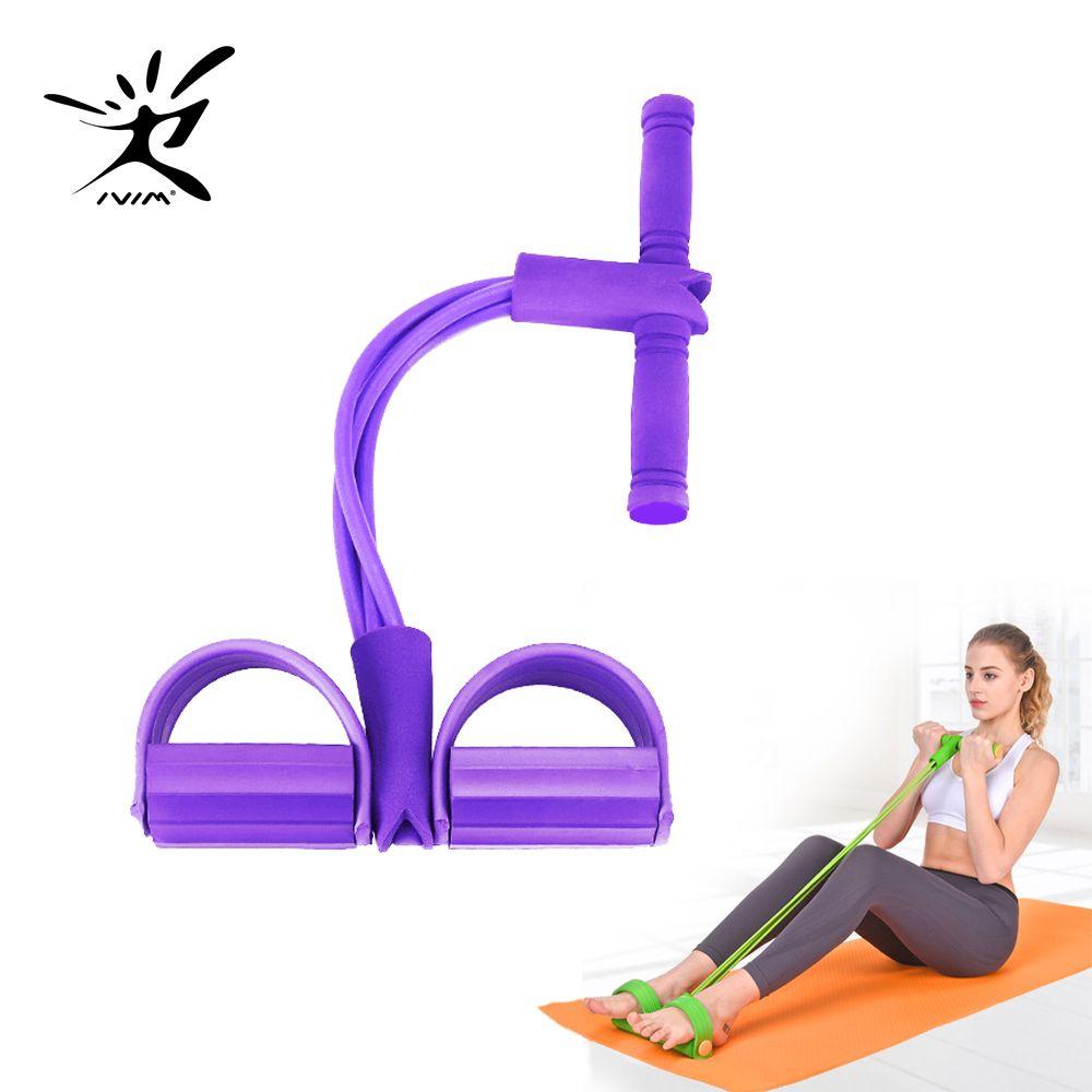 Fitness Gum 4 bandes de résistance Tube Latex pédale exereur assis-up tirer corde extenseur bandes élastiques Yoga équipement Pilates entraînement