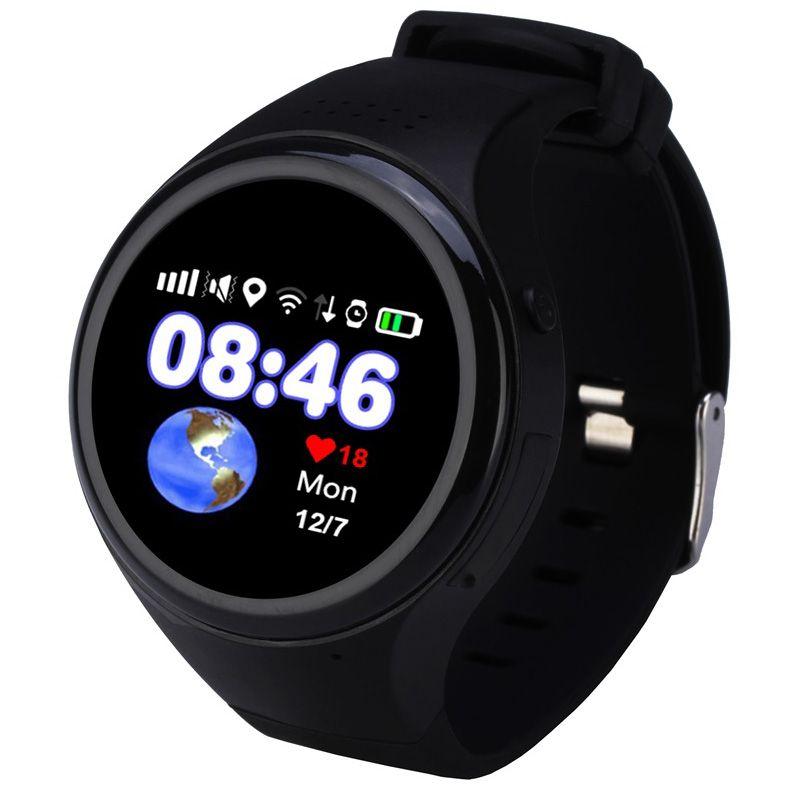 Дети Сенсорный экран GPS Смарт-часы WI-FI позиционирования дети старик телефон SOS для отслеживания часы анти потерял трекер sim-карты