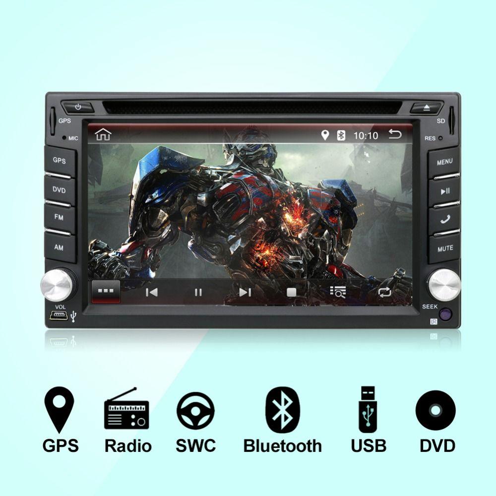 В тире Android 7,1 процессор двойной 2 Дин радио gps Navi DVD плеер стерео головного устройства видео BT автомобильные ПК CD Wi Fi 3g парковка