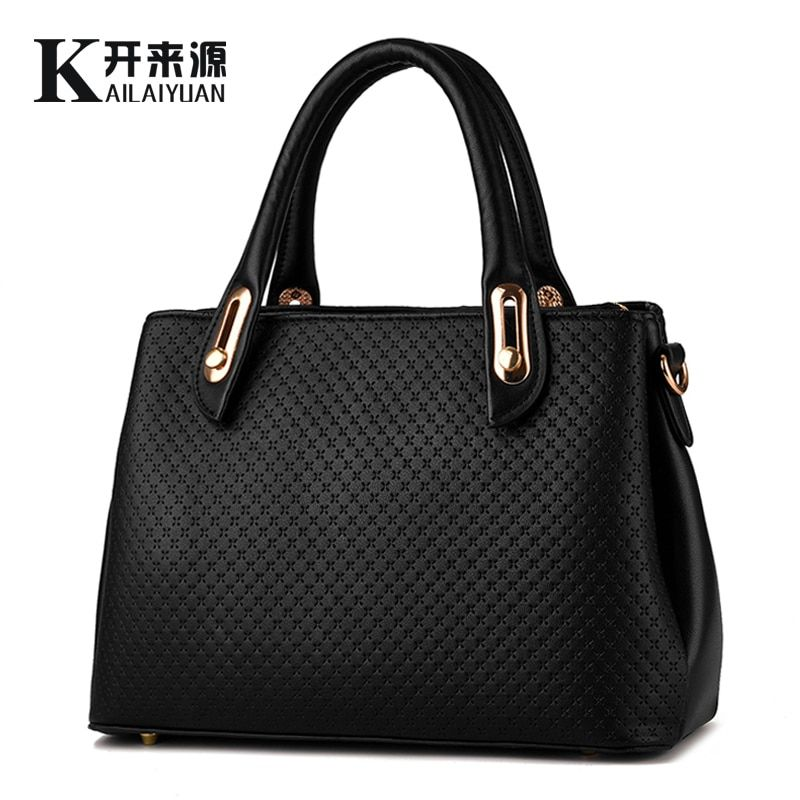 KLY 100% Genuine leather Women handbags 2018 New style female stereotypes bag fashion handbags Shoulder Messenger Handbag