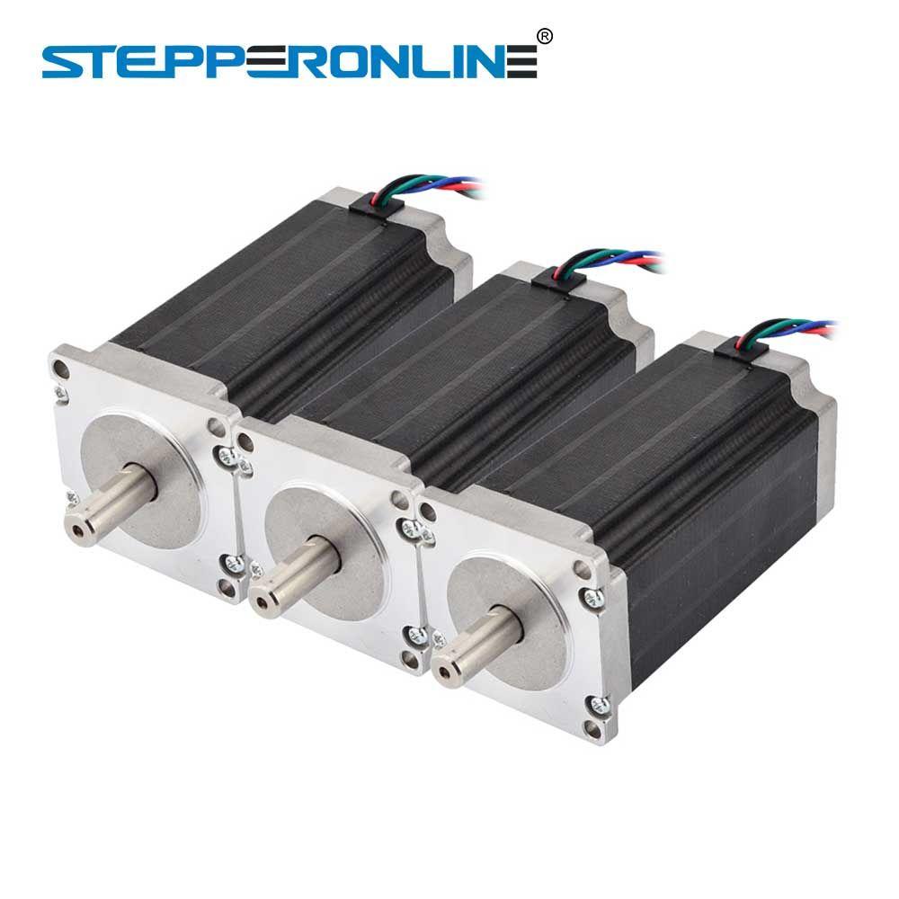 3PCS 3Nm/425oz.in Nema 23 Stepper Motor 4.2A 4-lead 10mm Shaft 57x57x113mm DIY CNC Mill Lathe Router