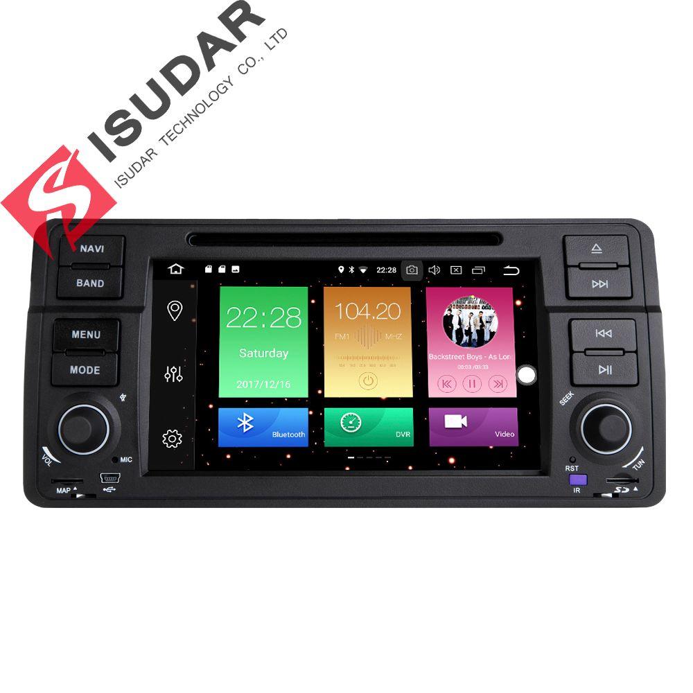 Isudar Auto Multimedia-Player GPS Android 8.0 Auto Radio 1 Din Für BMW/E46/3 Serie Canbus Bluetooth Radio rückansicht Kamera DSP
