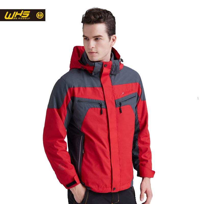 WHS hot sale Men windbreaker spring autumn camping jacket male outdoor sport clothes waterproof jackets thermal coat Autumn