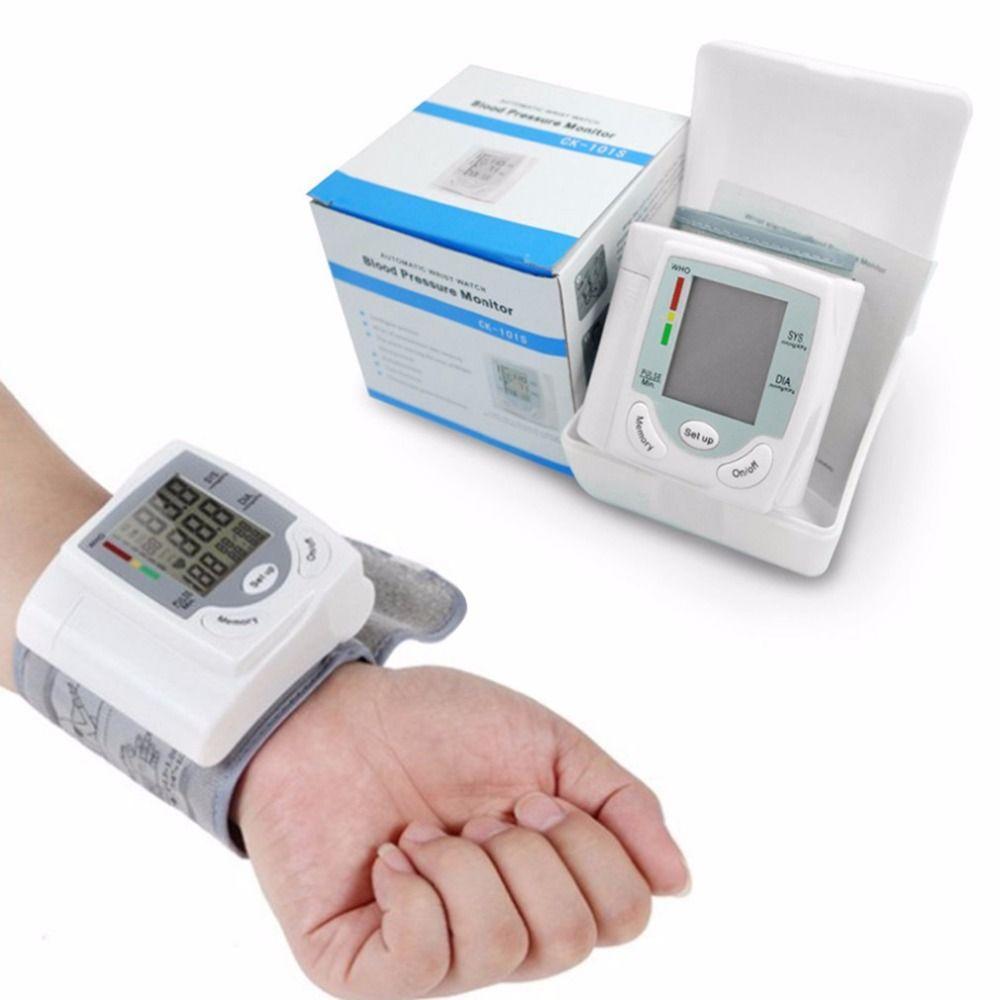 Автоматический тонометр цифровой ЖК-дисплей Дисплей наручные Приборы для измерения артериального давления Мониторы Heart Beat частоты пульса ...