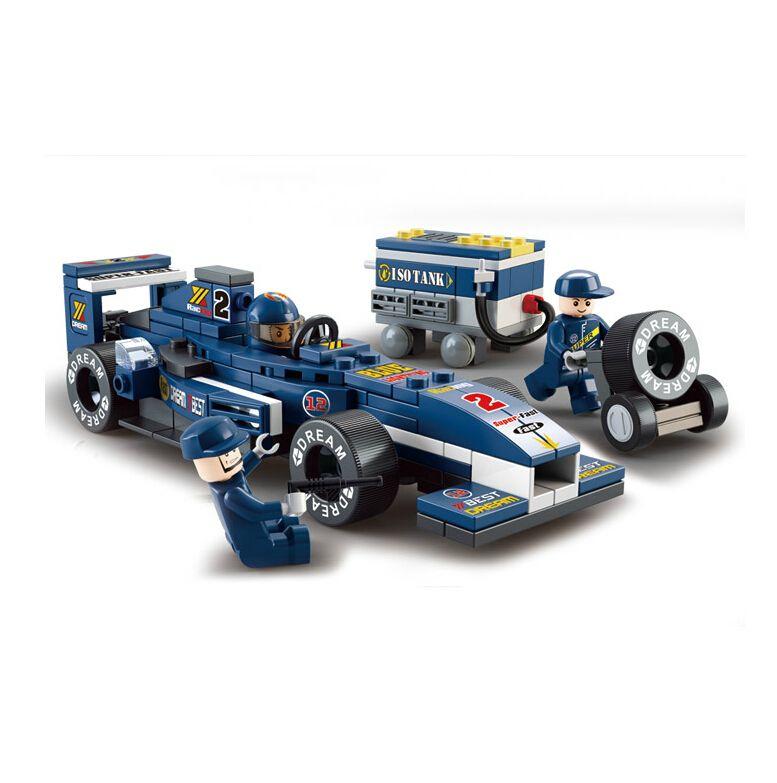 F1 racing car model juguetes ladrillo enlighten del bloque hueco 3d de construcción diy juguete para niños compatibles