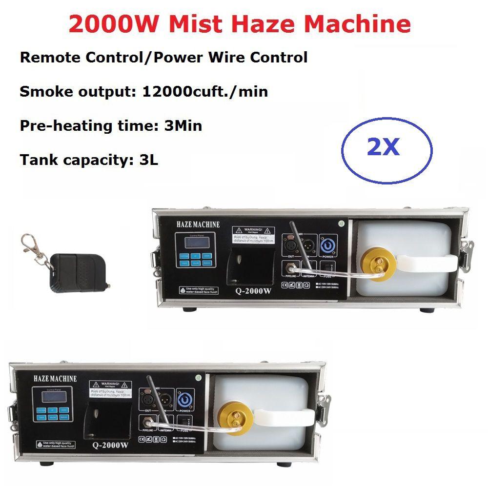 2 XLot 2000 W Nebel Dunst Maschine 3 L Professionelle Hazer Nebel Maschine Bühne DJ Zeigt Ausrüstungen Für Hochzeit Bühne dj Laser Licht Club
