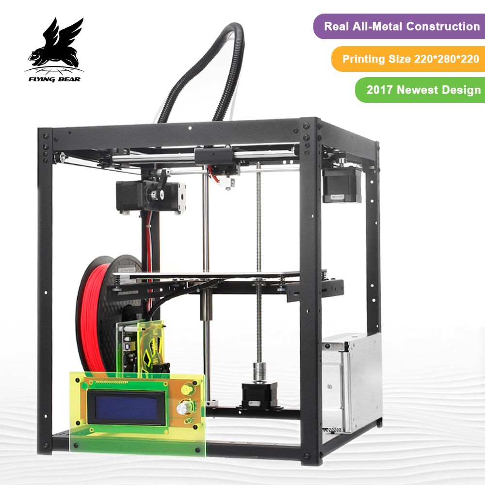 Hot Sale Flyingbear-P905 DIY 3d Printer kit High <font><b>Quality</b></font> Full metal Precision Auto leveling Makerbot Structure Gifts