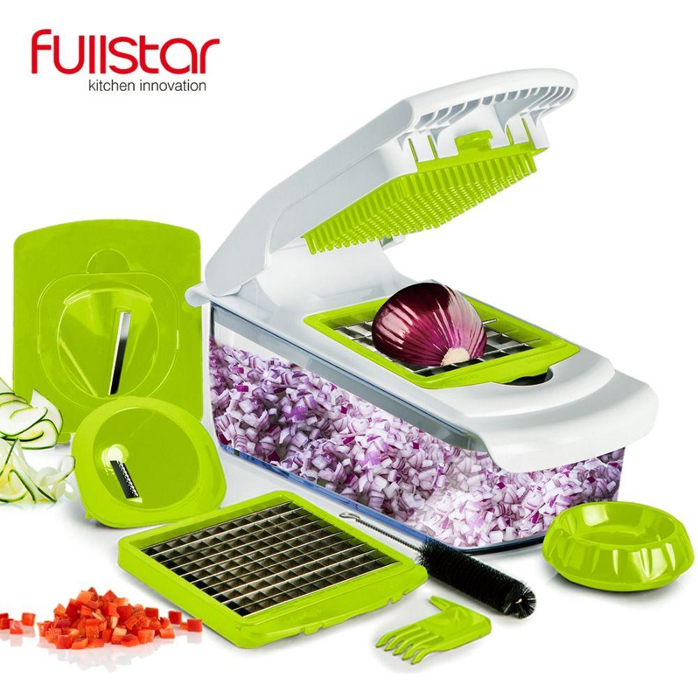 Fullstar coupe-légumes accessoires de cuisine Mandoline trancheuse fruits coupe pomme de terre éplucheur carotte fromage râpe trancheuse de légumes