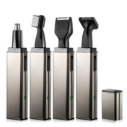 4in1 Rechargeable shaver electric razor nose trimmer beard trimer for men face eyebrow ear Trimmer for nose and ears