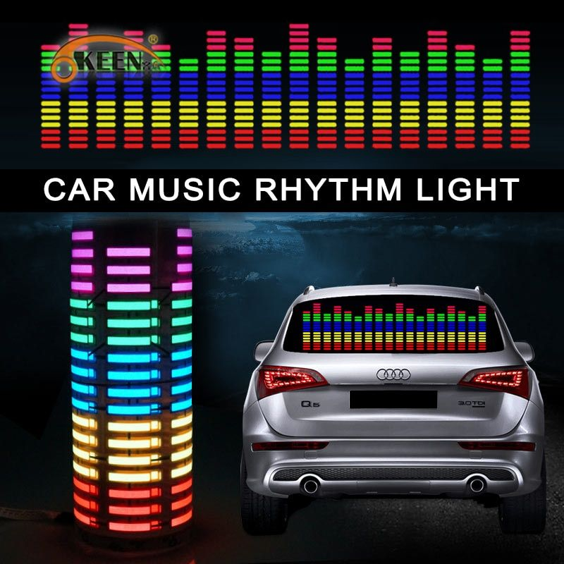 OKEEN 70*16 car-styling music car sticker music equalizer to the rear window light for car rgb led controller decorative lamps