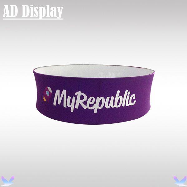 10ft * 3.3ft Messestand Werbung Spannstoff Kreis Hängen Banner Display-ständer Mit Farbdruck