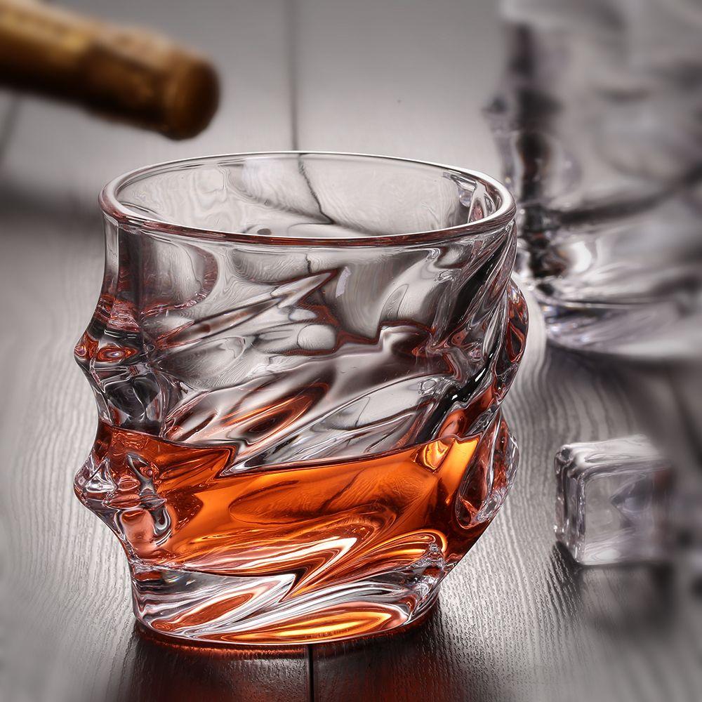 1 pcs Verres à Whisky Premium Sans Plomb Tasses En Verre De Cristal Grand 10 oz Dégustation Gobelets pour Potable Scotch Bourbon irlandais