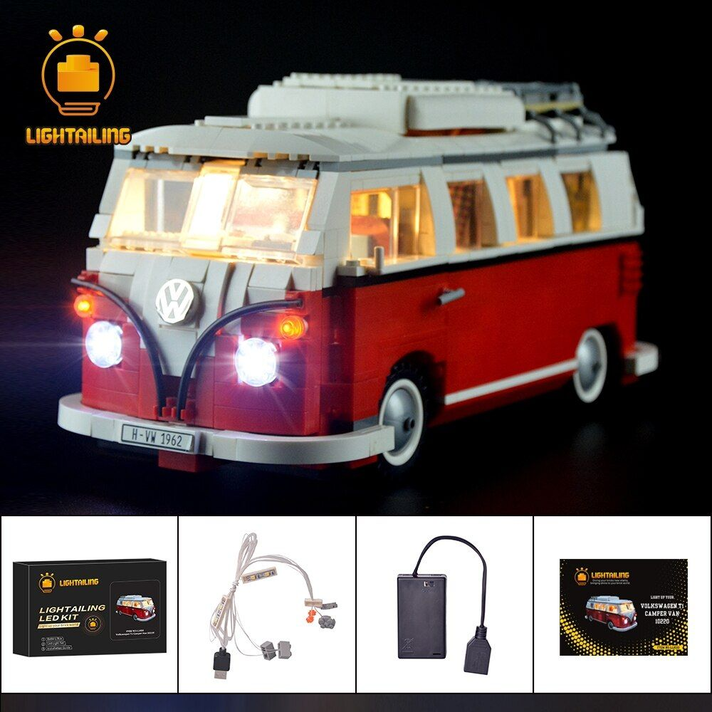 LIGHTAILING LED Light Kit For T1 Camper Van Building Blocks Toys Light Set Compatible With 10220 And 21001 For Kids Gift