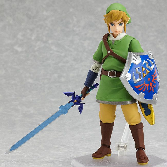 2017 Anime The Legend of Zelda 14cm Figma 153 Link with Skyward Sword Boxed Action Figure Toys