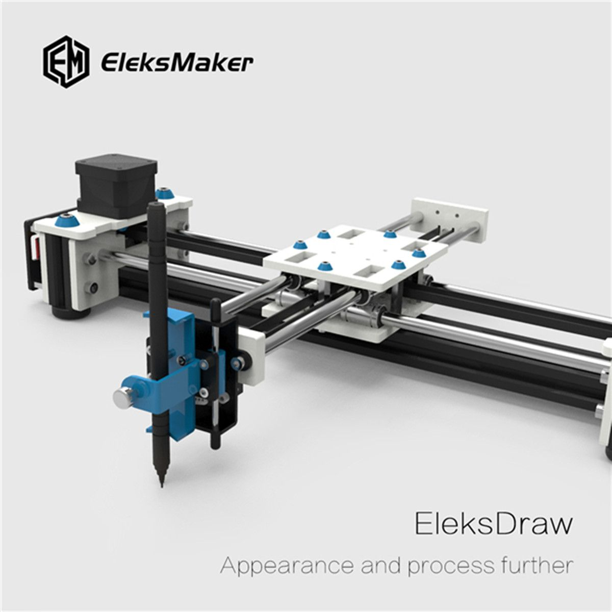 EleksMaker EleksDraw Mini XY 2 Axis CNC Plotter Pen USB DIY Laser Drawing Machine Engraving Area 280x200mm Desktop Drawing Robot