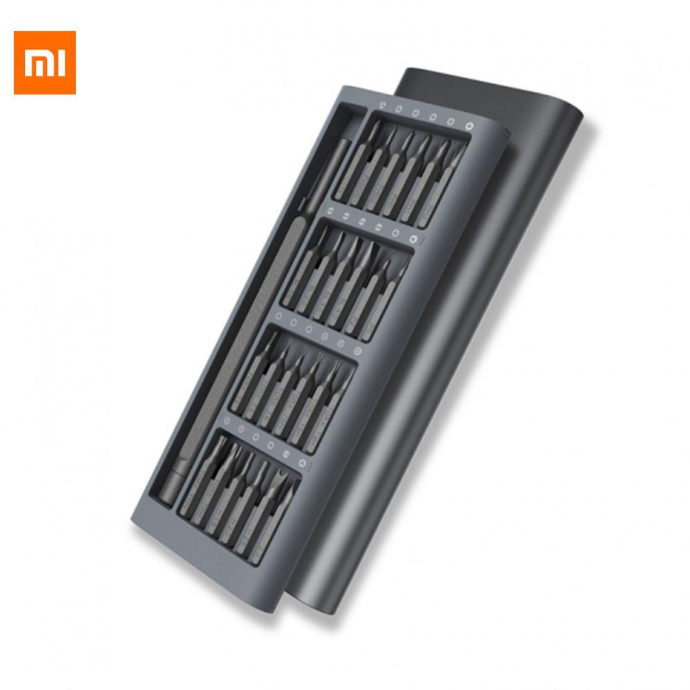 Original Xiaomi Mijia Wiha Screwdriver Kit 24 Precision Magnetic Bits Aluminum Box Xiaomi Smart Home Kits Screw Driver Daily Use
