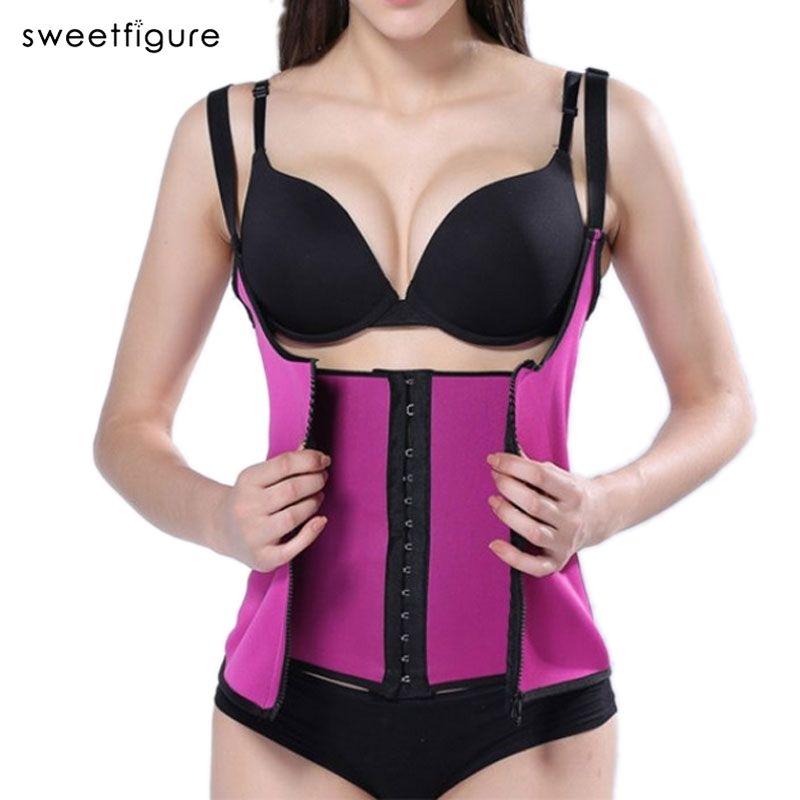 Waist Trainer Corset Latex Modeling Strap Underwear Body Shaper Corsets For Women Slimming sheath belly Belt Shapewear Top Vest