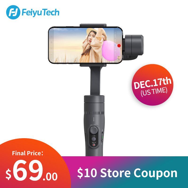 FeiyuTech Vimble 2 Feiyu 3-Axis Handheld Smartphone Gimbal Stabilizer with 183mm Pole Tripod for iPhone X 8 7 XIAOMI Samsung
