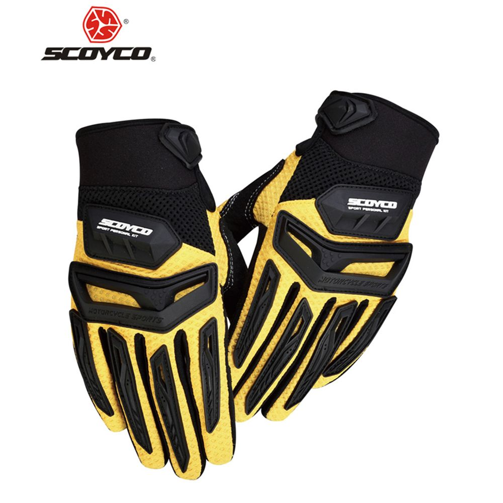 SCOYCO Motorcycle Gloves Motocross Off-Road Racing Rubber Protection Breathable Gloves Motorbike Enduro Dirt Bike Riding Gloves