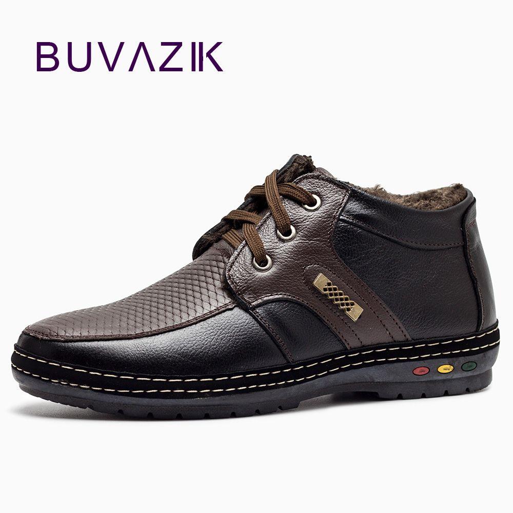 Для мужчин; зимние ботинки для 2017 мягкая натуральная кожа зимние сапоги Водонепроницаемый и Snowproof и нескользящие кашемировая теплая обувь