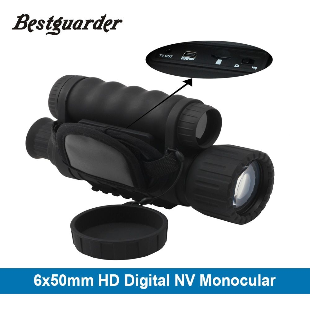 Bestguarder WG-50 HD night vision Infrared Night Vision Monocular IR Telescope 6x50 Zoom Record thermal night vision monocular