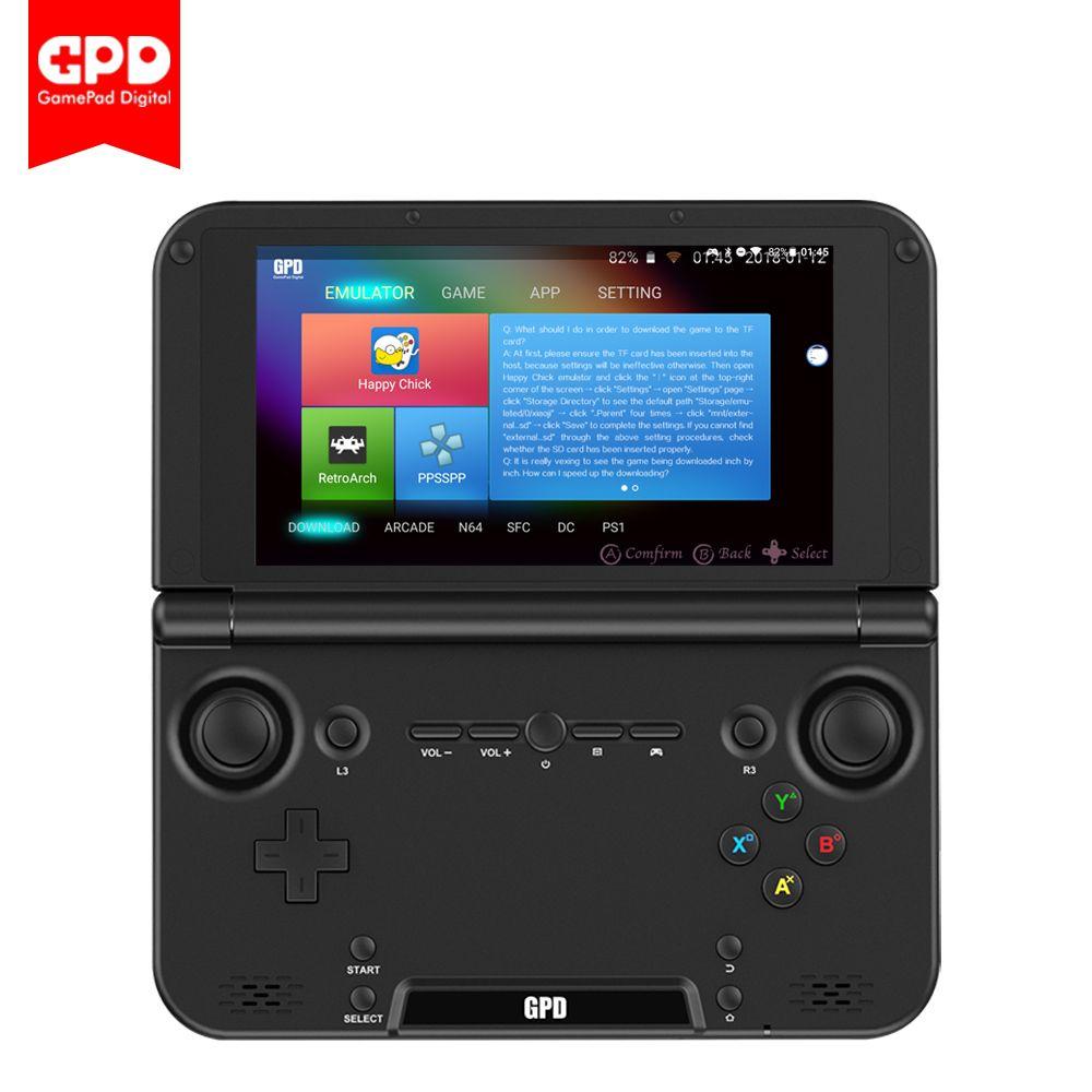 Neue Original GPD XD Plus 5 zoll 4 gb/32 gb Android/Linux 7,0 CPU MT8176 Hexa- core Handheld Spielkonsole Laptop (Schwarz)