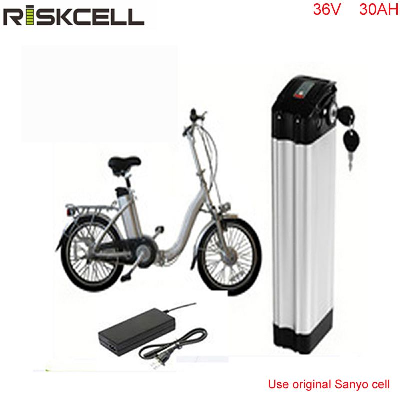 lithium ion battery 36v 30ah electric bike silver fish battery 36v 1000w lithium ion battery pack for ebike with Sanyo Cell