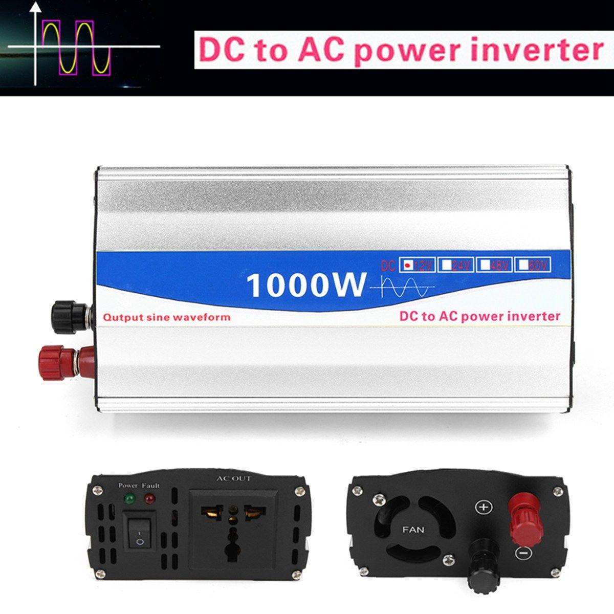 1000W Inverter DC 12V to AC 220V Pure Sine Wave Power Inverter Transmitter For Home Car Converters Supplies