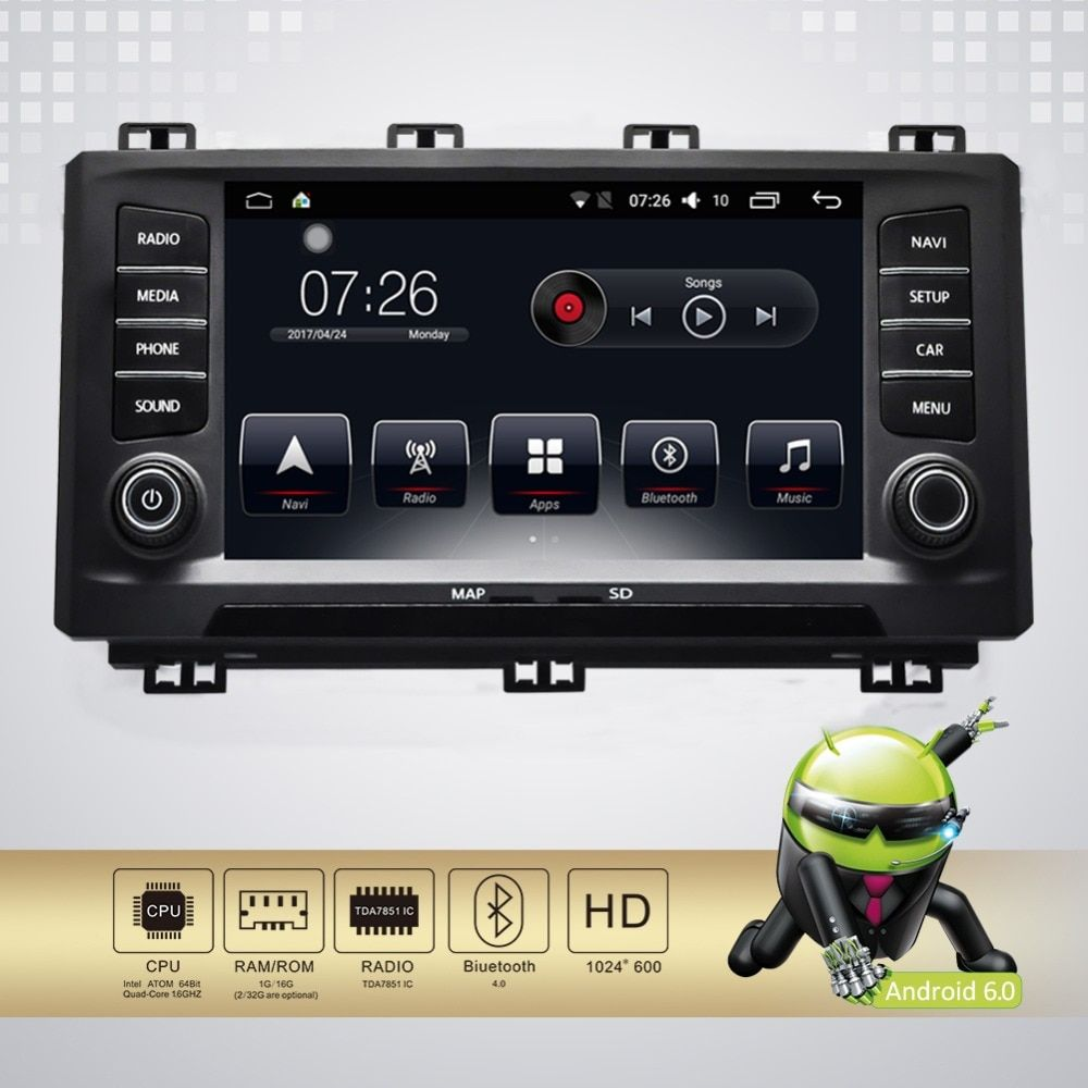 Android 7.1 8 inch Touch Screen GPS Navigation Multimedia radio DVD Player WiFi /Mirror Link/bluetooth/for Seat Ateca 2016-2017
