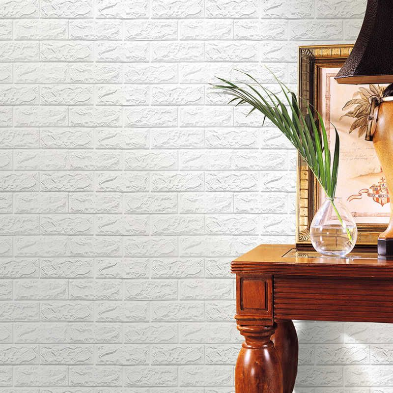 New Arrival 3D Brick Stone Wallpaper PE Foam DIY Wall Stickers Self-Adhesive Panels Decals For Home Decoration