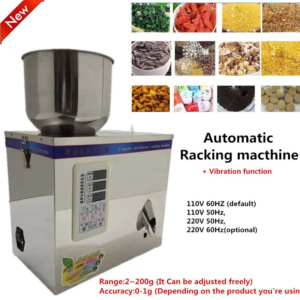 1~200g 220V Automatic Weighing Vibration Racking Machine Filling Machine for Small Granular Food,pill,Electronic componentPack