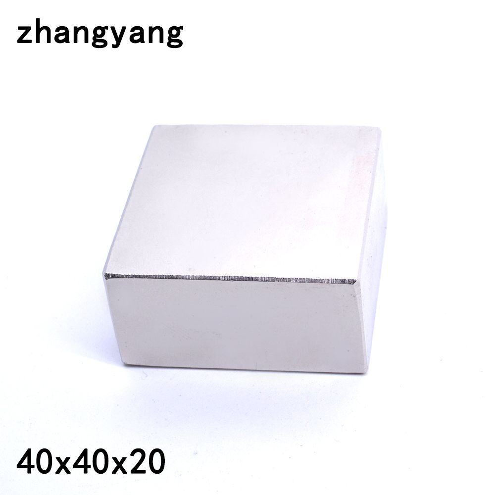 2pcs Neodymium magnet 40x40x20 mm gallium metal super strong magnets 40*40*20 square Neodimio magnet powerful permanent magnets