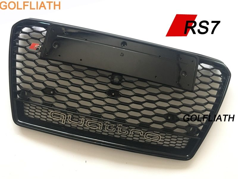 GOLFLIATH RS7 Car-Styling ABS Front Bumper Grille center Grill quattro For Audi A7 & S7 & RS7 2011-2014