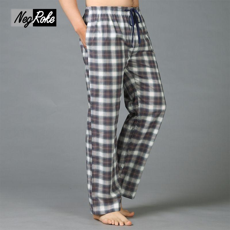 Plus la taille D'été 100% coton hommes dorment fonds de pyjama simple pantalon de vêtements de nuit pyjamas pour hommes sheer mens pantalon pyjama pantalon