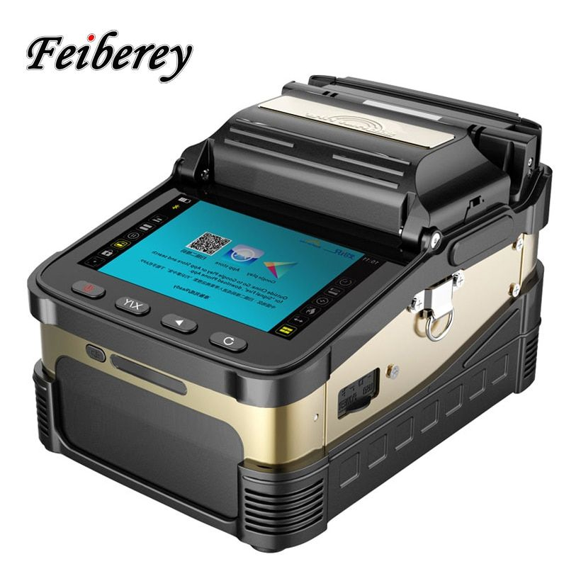 AI-8 Optical Fiber Fusion Splicer FTTH Automatic SM MM Six Motors Fiber Optic Low Price Welding Splicing Machine