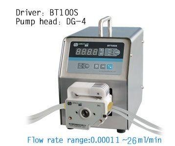 BT100S DG10-4 (10rolls) Lab Led Digital Display Variable Speed Best Peristaltic Dosing Filing Liquid Pump 0.00011-20ml/min