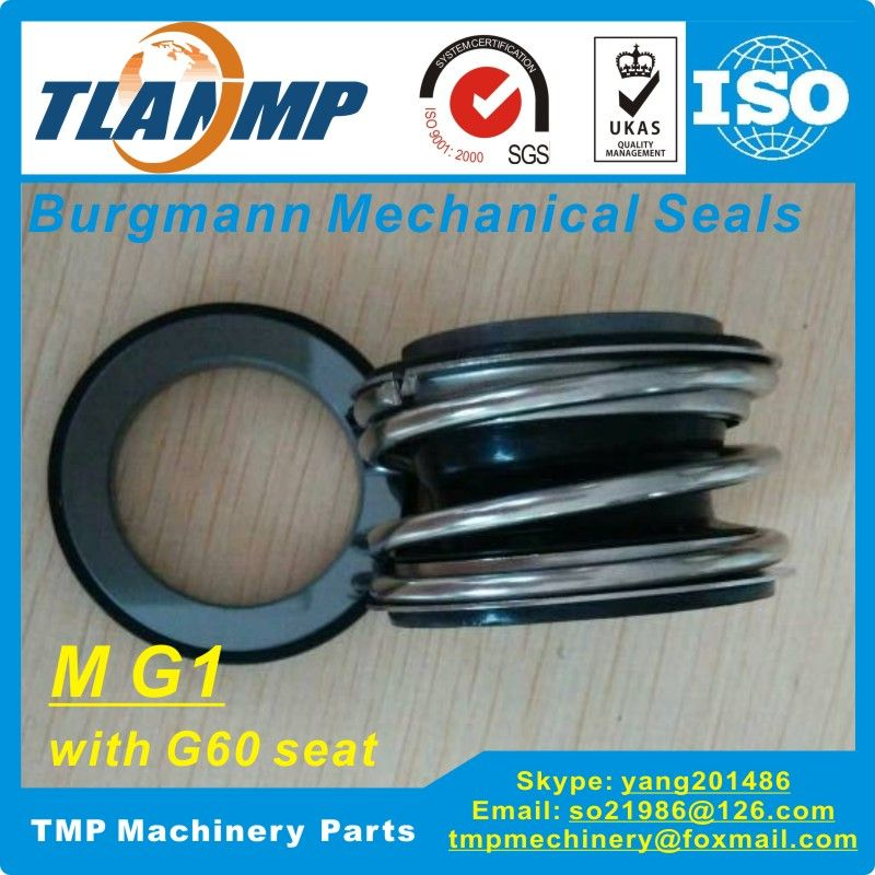 MG1-12 (MG1/12-G60)   Burgmann Mechanical Seals for Water Pumps with G60 stationary seat-(Material:SIC/SIC/VITON)