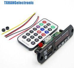 Nirkabel Bluetooth 12 V MP3 WMA Decoder Papan Audio Modul USB TF Radio untuk Mobil