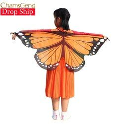 Chamsgend Newly Design Butterfly Wings Pashmina Shawl Kids Boys Girls Costume Accessory 0509