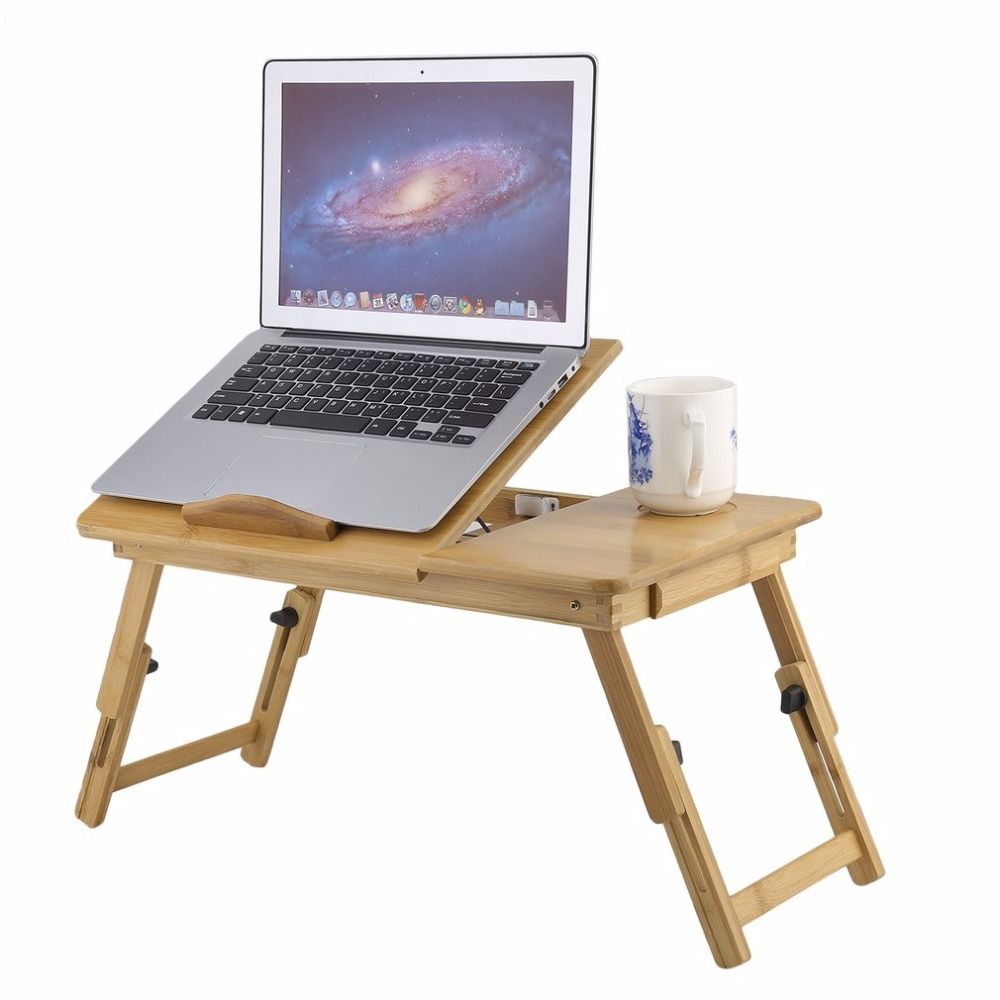 Fashion Portable Folding Bamboo Laptop Table Sofa Bed Office Laptop Stand Desk Computer Notebook Bed Table