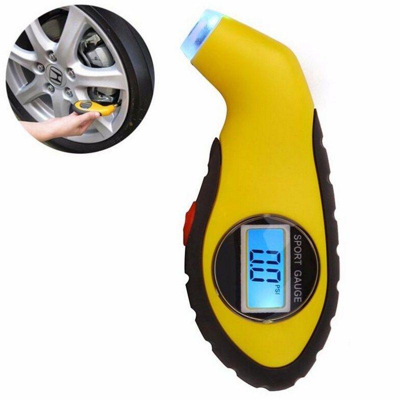 LCD Digital Tire Tyre Pressure Gauge Tester Meter Tool For Auto Car Motorcycle Air Gauge Barometer Tire Gauge