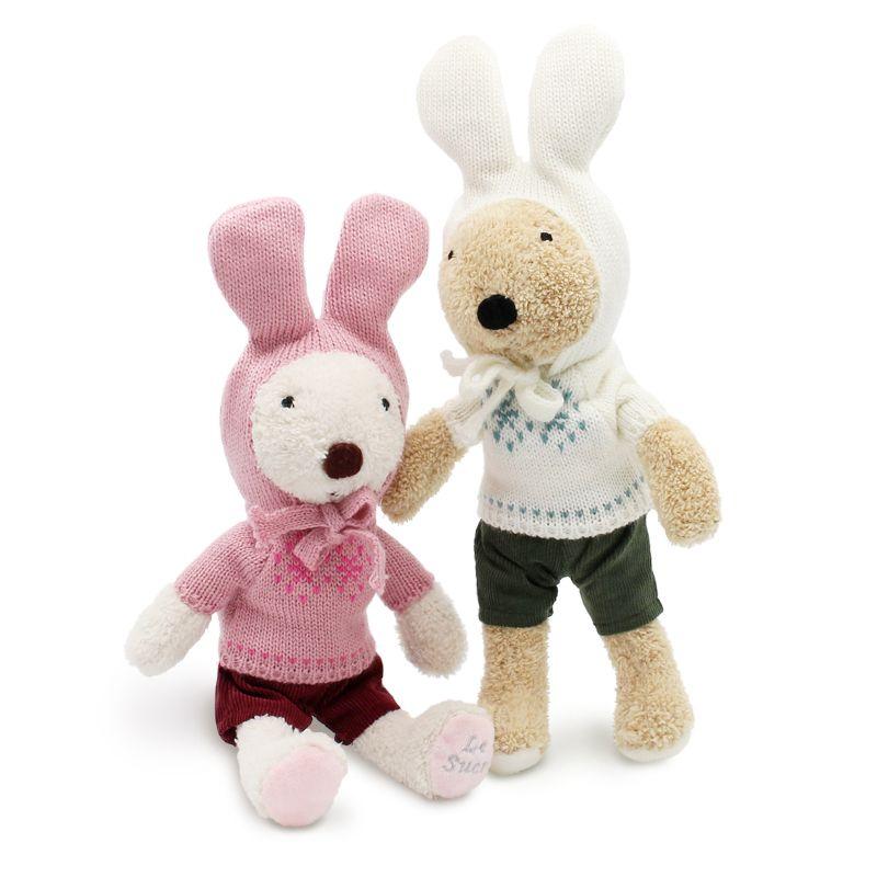Le sucre pull lapin 30 cm lapin en peluche enfants jouets Kawaii poupées en peluche cadeaux de haute qualité, les vêtements peuvent être décollés