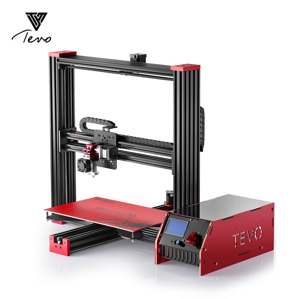 Electronic TEVO Black Widow 3D Printer Full Aluminium Large Printing Size Cheap DIY Kit Extrusion MKS Mosfet SD Card As Gift